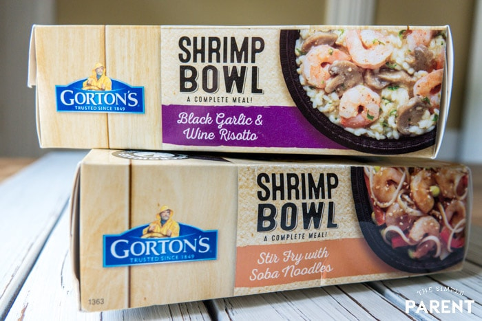 Two flavors of Gorton's Shrimp Bowls