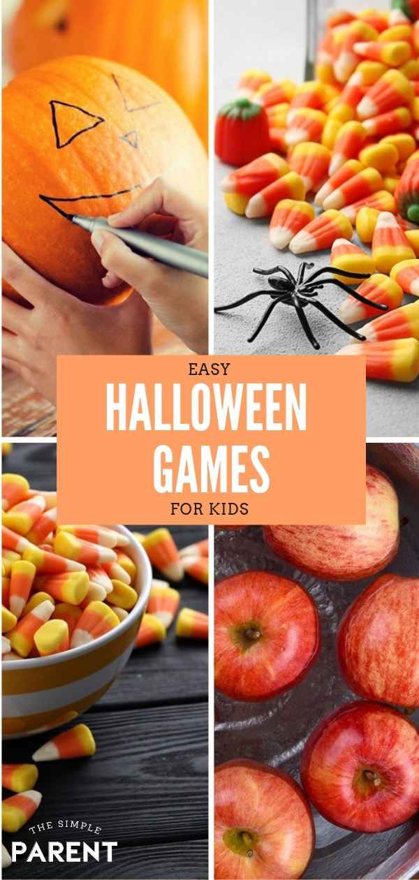 Halloween games for kids are perfect for children of all ages! They're great for parties, for school, and for fun! These easy DIY party games are cheap! Check out the free printable too!