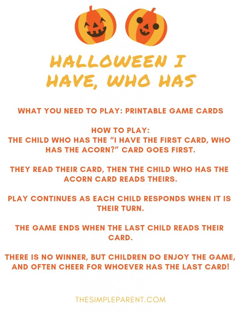 Halloween Games for Kids Printable
