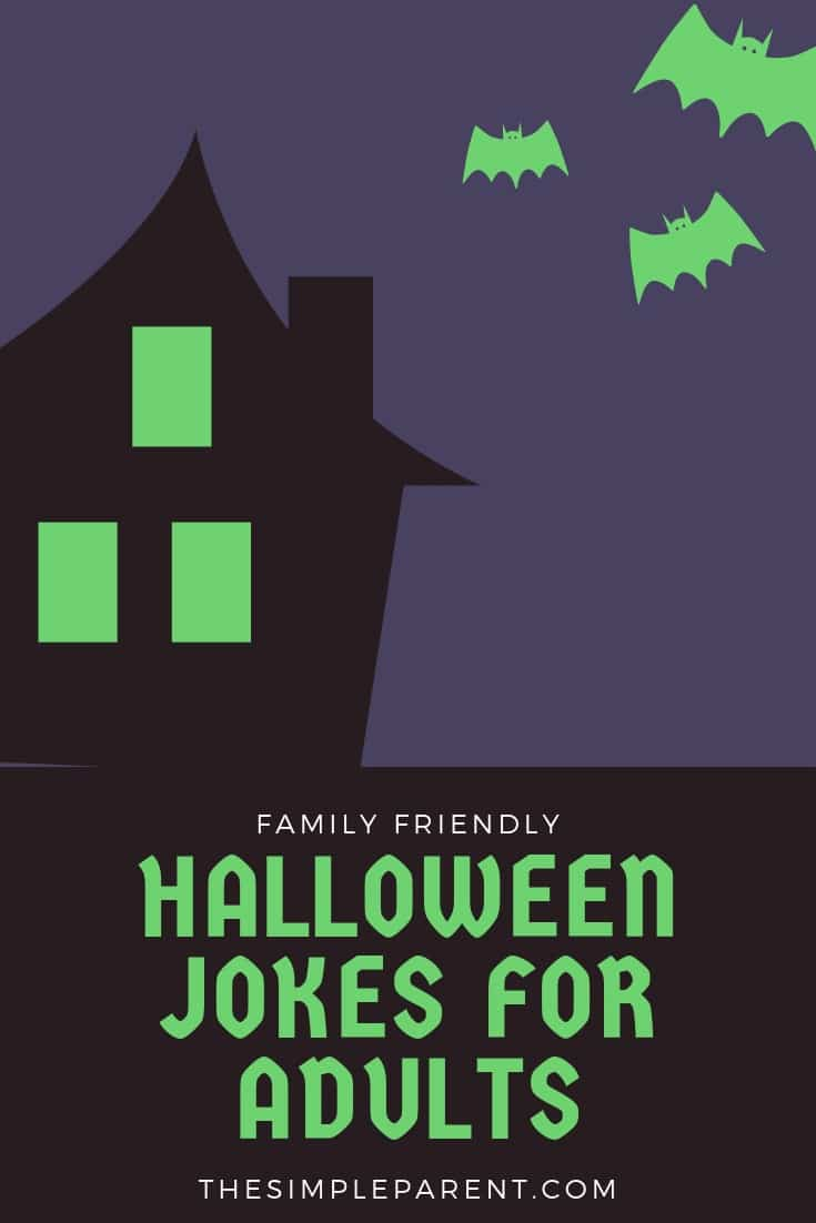 Halloween Jokes for Adults can be family friendly! These hilarious jokes are great for adults and for kids (the kids just might not get the punch line!)