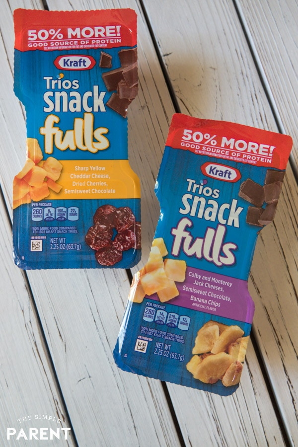Kraft Snackfulls with cheese and chocolate