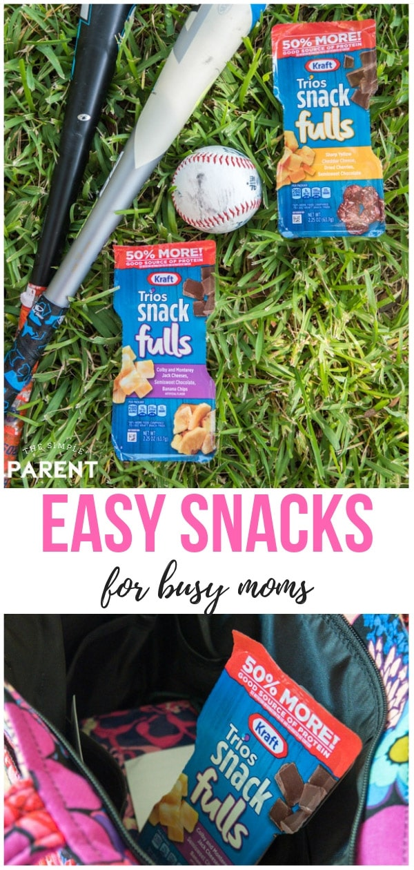 Busy moms needs snacks too! The fun snacks don't always have to be for kids either! Kraft SnackFULLS have indulgent snack mixes your kids will be jealous of!