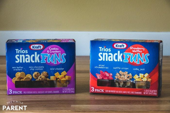 Boxes of Kraft SnackFUNs