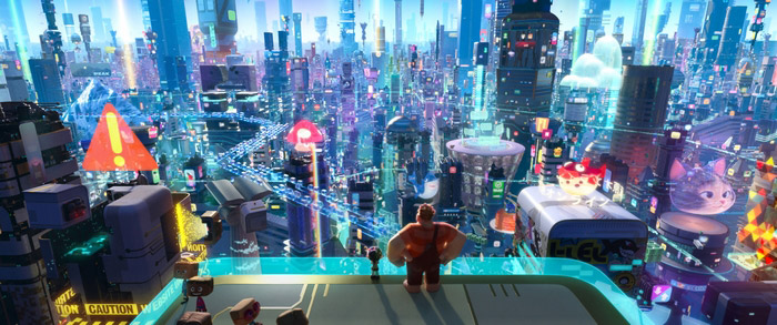 The world of the internet in Ralph Breaks the Internet