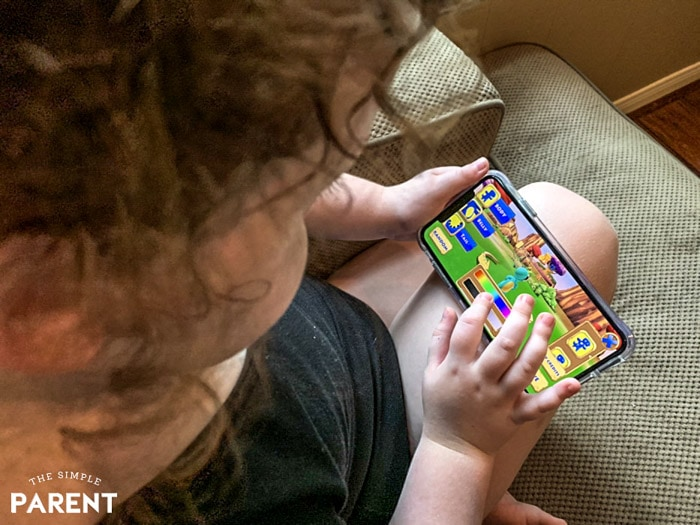 Child using Stan Lee's Kids Universe app
