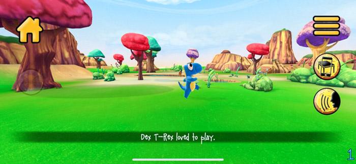 Dex T-Rex from Stan Lee's Kids Universe App