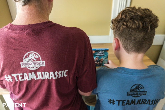 Family wearing #TeamJurassic shirts