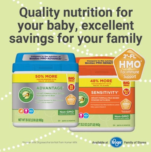 Kroger Comforts Formula Nutrition Information