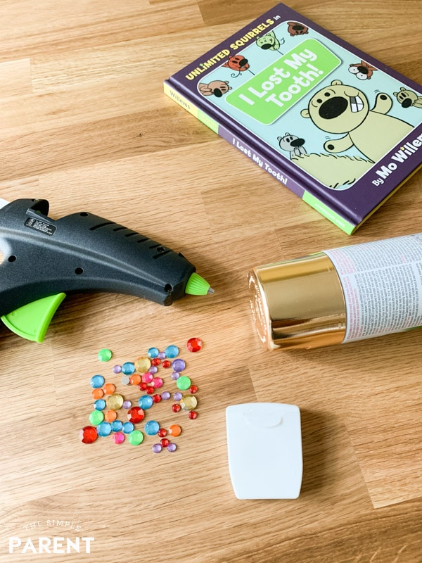 Materials for DIY Tooth Container craft