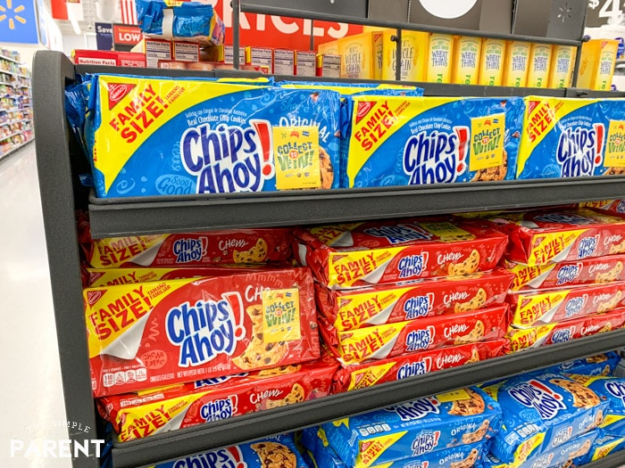 Specially marked family size snacks at Walmart - Chips Ahoy cookies