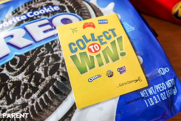 Collect to Win booklet on Oreos from Walmart