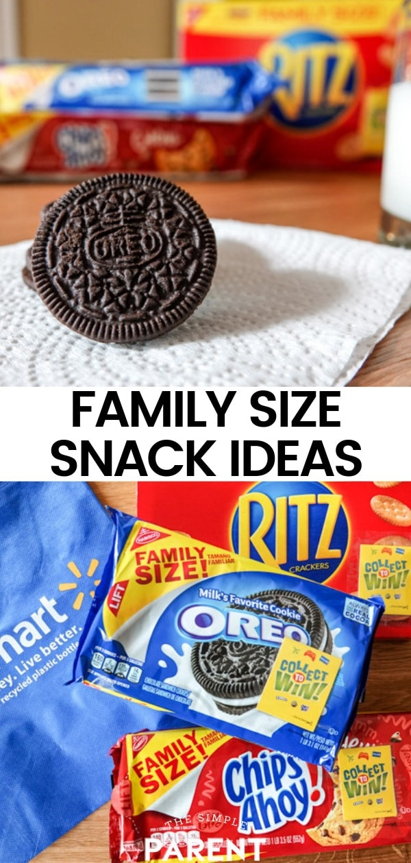 Buy family size snacks at Walmart to play the Collect to Win game. Win prizes by enjoying your favorite snacks like Ritz, Chips Ahoy, and Oreo!