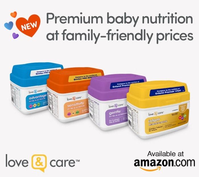 love & care Infant formula at Amazon