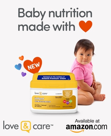 Make formula feeding easier with love & care formula at Amazon
