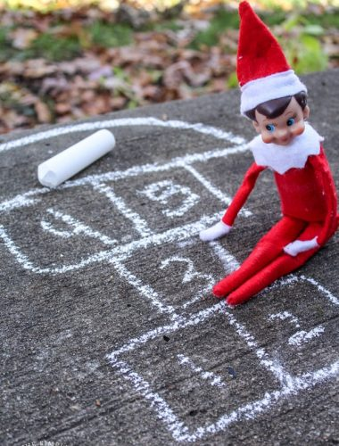 Elf on the shelf playing outside - Elf on the Shelf ideas