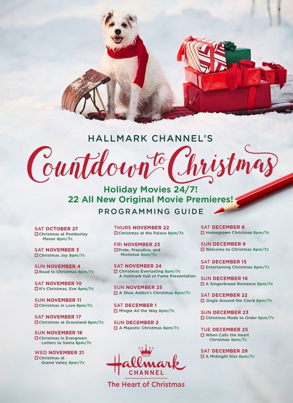 Hallmark Channel Christmas Movies Schedule