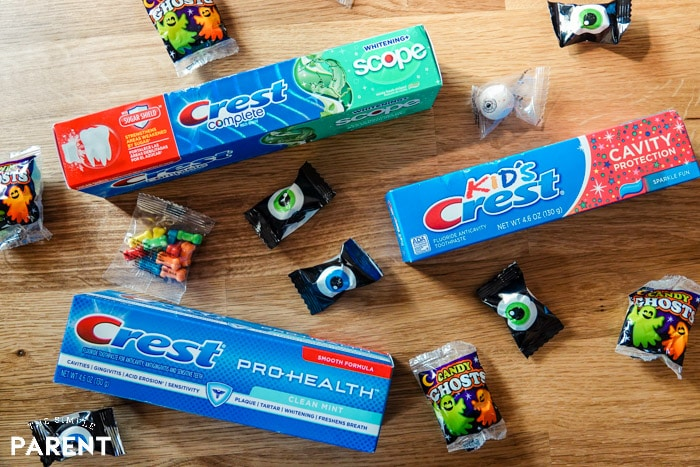 Have a healthy Halloween by brushing twice a day with Crest toothpaste