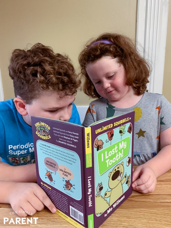 Kids reading Unlimited Squirrels: I Lost My Tooth book