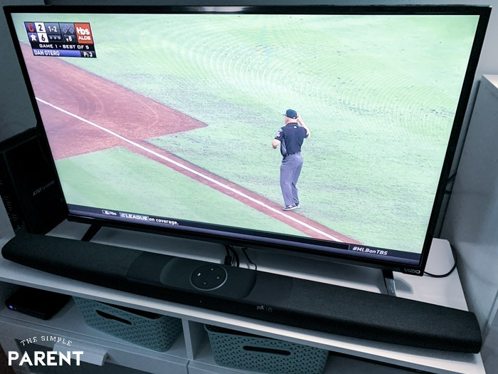 Watching TV with better sound with Polk Command Sound Bar