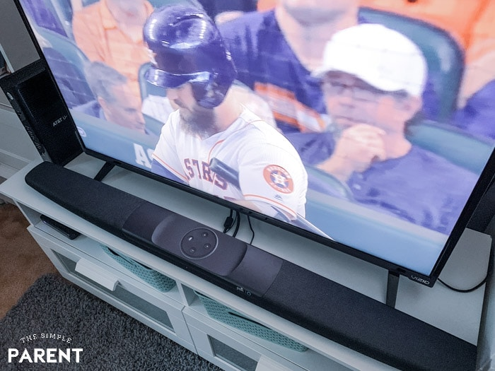 Watching baseball with the Polk Command Sound Bar