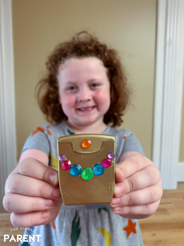 Girl with Tooth Fairy Box Craft