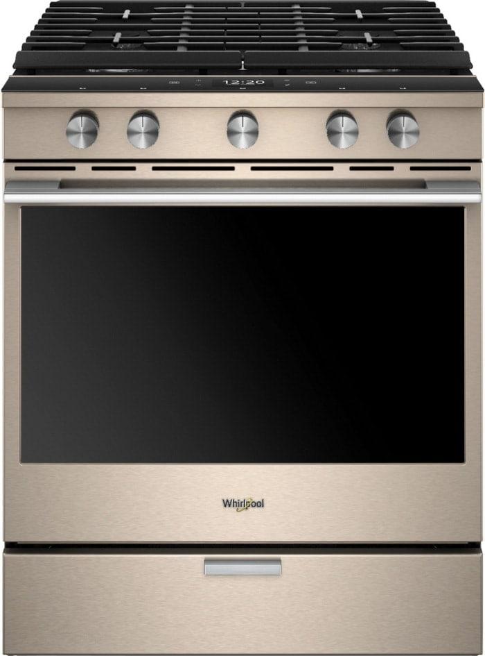 Whirlpool Smart Oven - Whirlpool Sunset Bronze Gas Convection Range