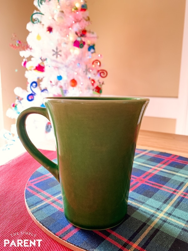 Cup of tea by the Christmas tree