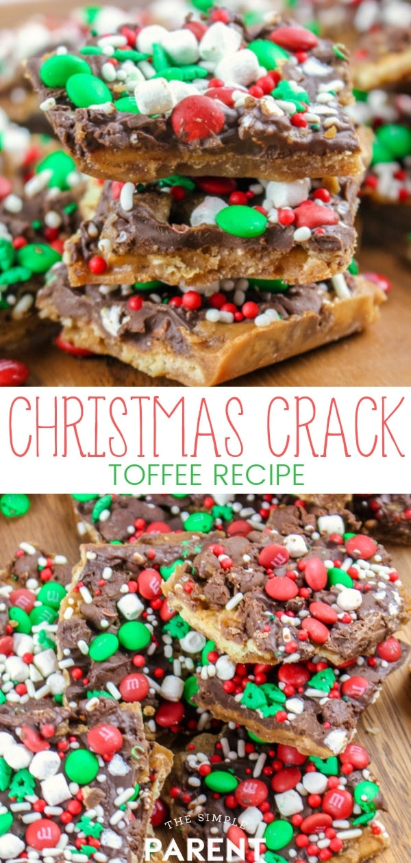 Make this easy Christmas Crack recipe this holiday season and you'll be a hit! The secret is saltines! Check out the variations you can make with graham grackers, Ritz crackers, or even pretzels! This cracker toffee recipe only takes about 15 minutes to make! It's also great for homemade holiday gift giving!
