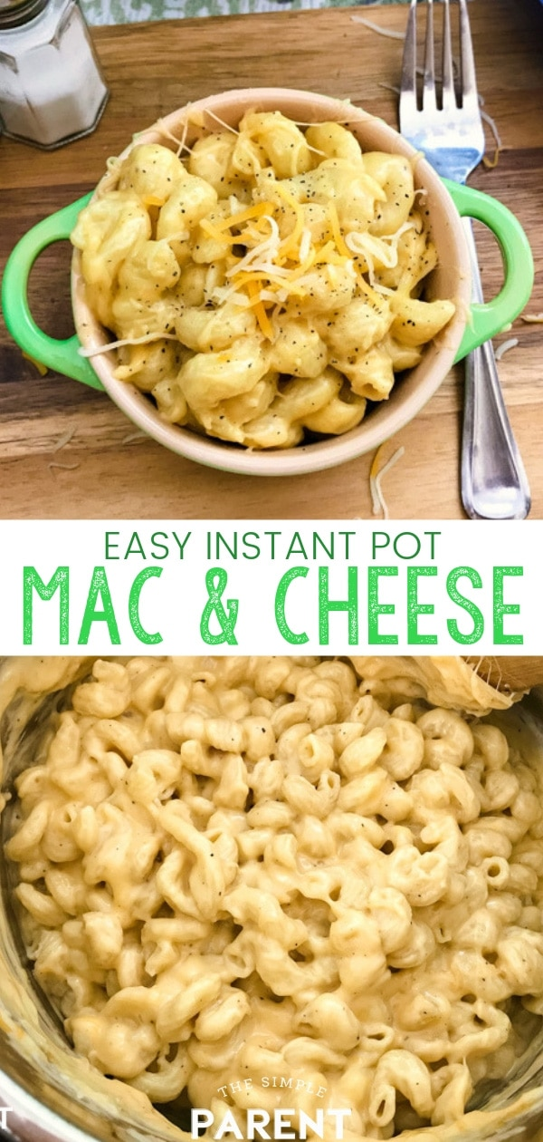 Make easy Instant Pot Mac and Cheese for your family tonight! It's one of the easiest pressure cooker recipes and you can make it all in one pot! Get creamy macaroni and cheese that your kids will love! Made with evaporated milk to get the best texture, you can even add things like bacon, chicken, or ham to turn this simple side dish into a main dish!
