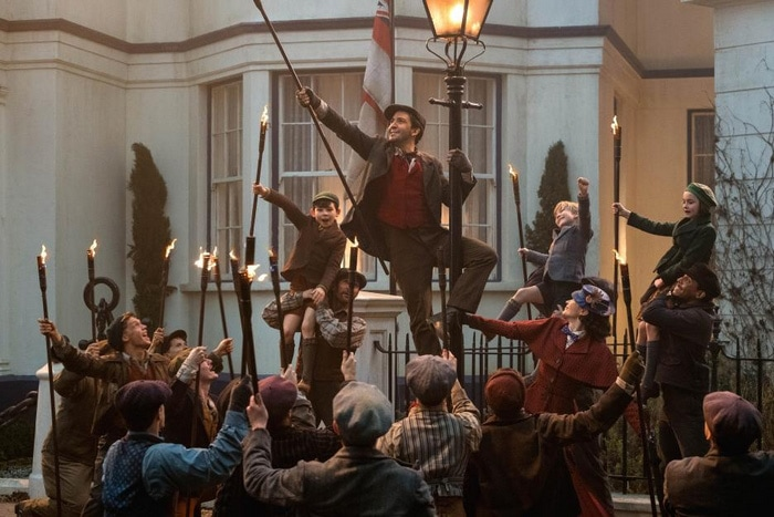 Scene from Mary Poppins Returns movie