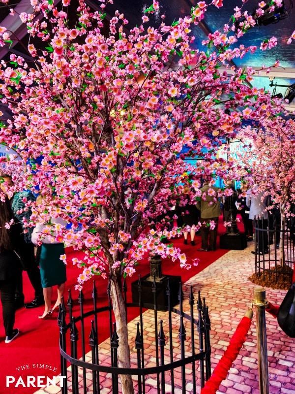 Cherry Blossom trees at Mary Poppins World Premiere red carpet