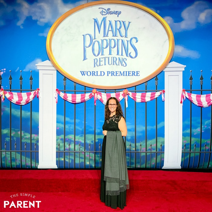 Mariah Moon of The Simple Parent at the Mary Poppins Returns premiere in Hollywood