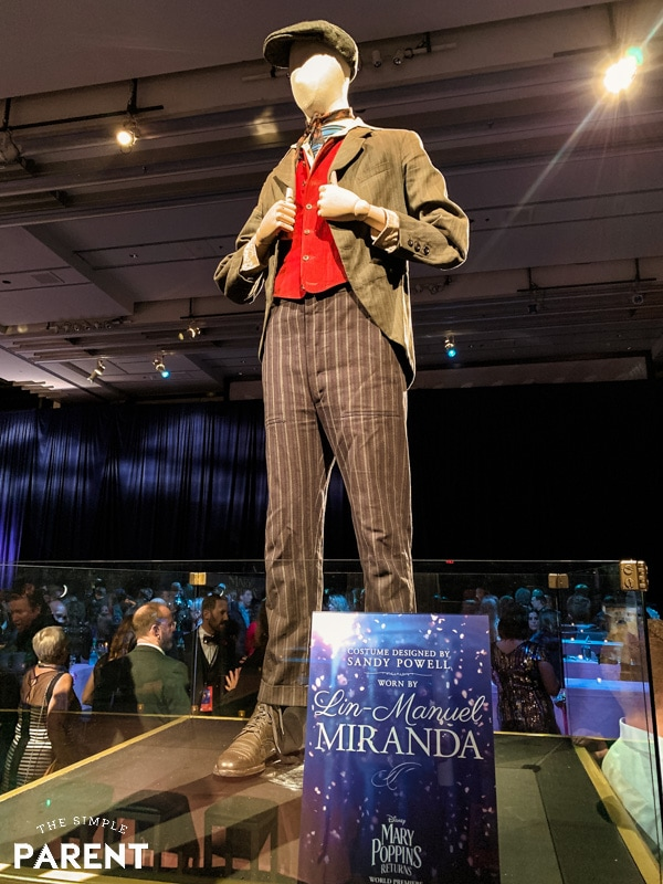 Lin Manuel Miranda's costume for Jack in Mary Poppins Returns