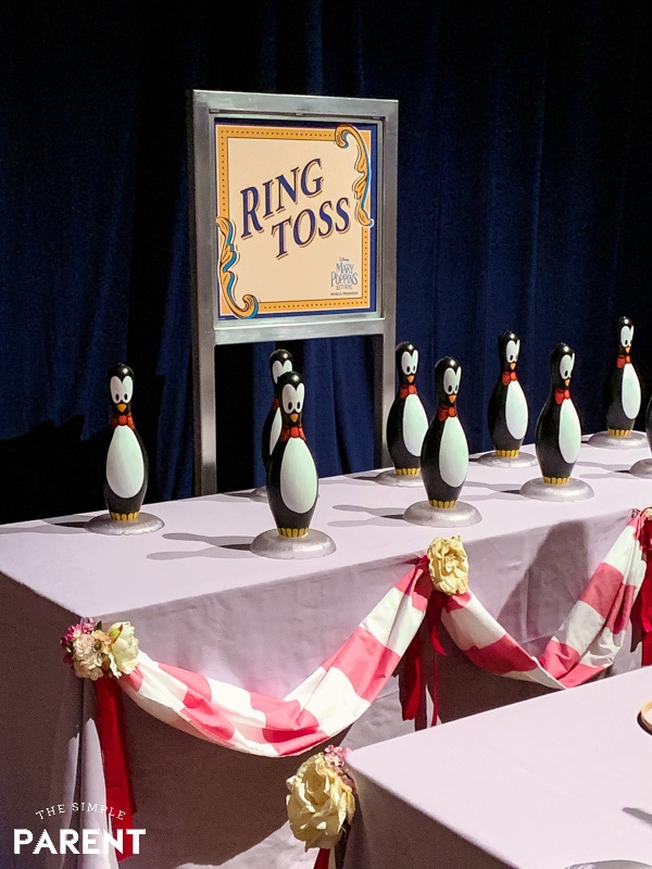 Penguin Ring Toss Game at Mary Poppins Premiere party