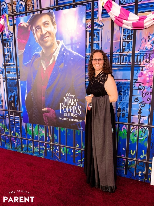 Mariah Moon of The Simple Parent at the red carpet Mary Poppins Returns premiere