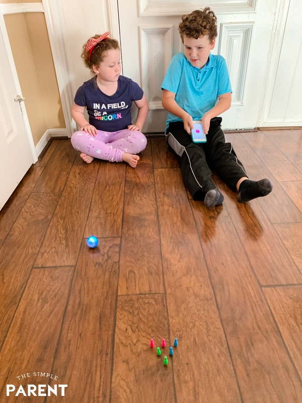 Kids playing with Sphero Mini