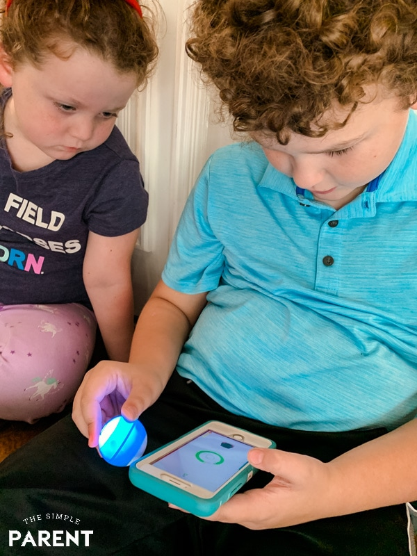 Kids playing games with Sphero Mini