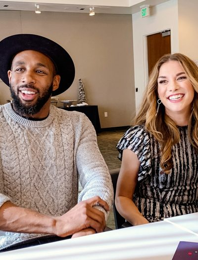 """Stephen """"tWitch"""" Boss and his wife Allison Holker"""