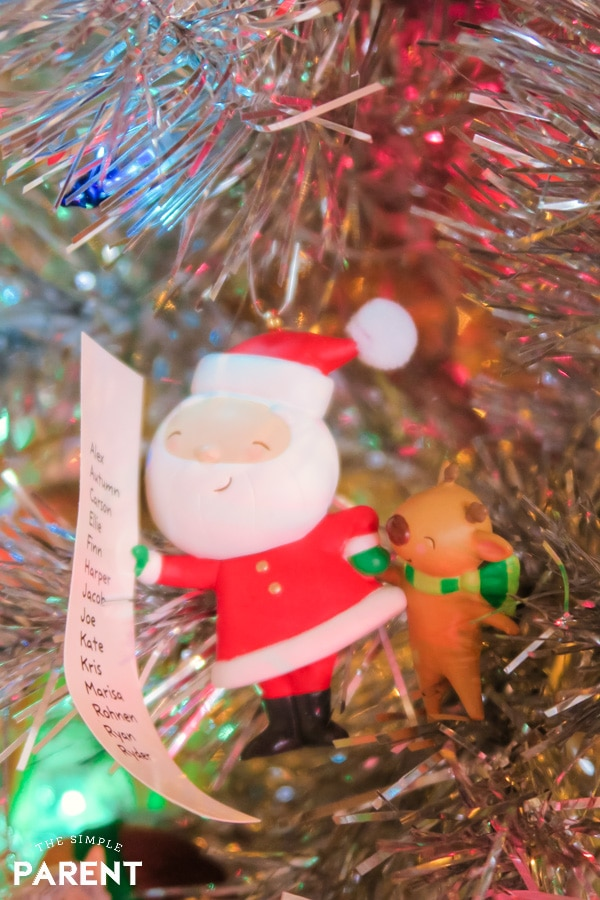 Santa Checking the Naughty and Nice List ornament