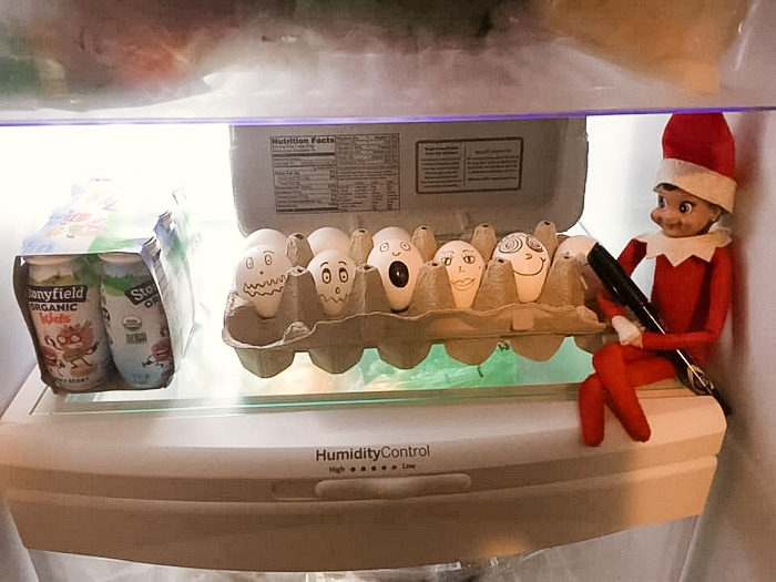 Elf on the Shelf and the egg carton