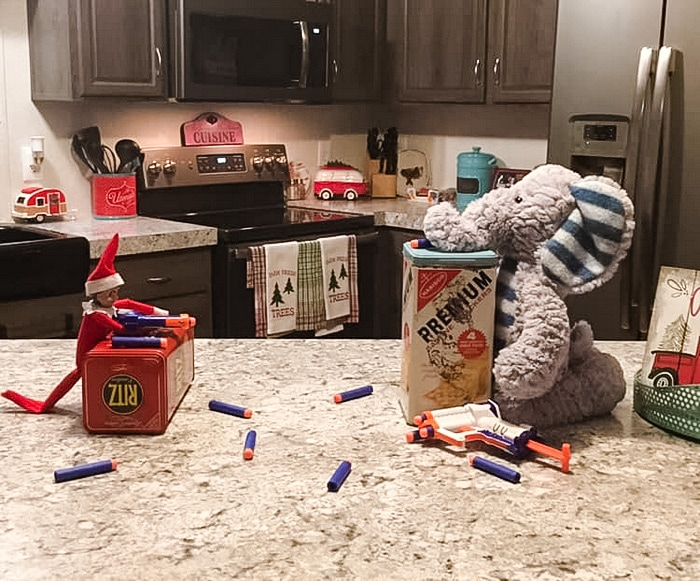 Elf on the Shelf Nerf War