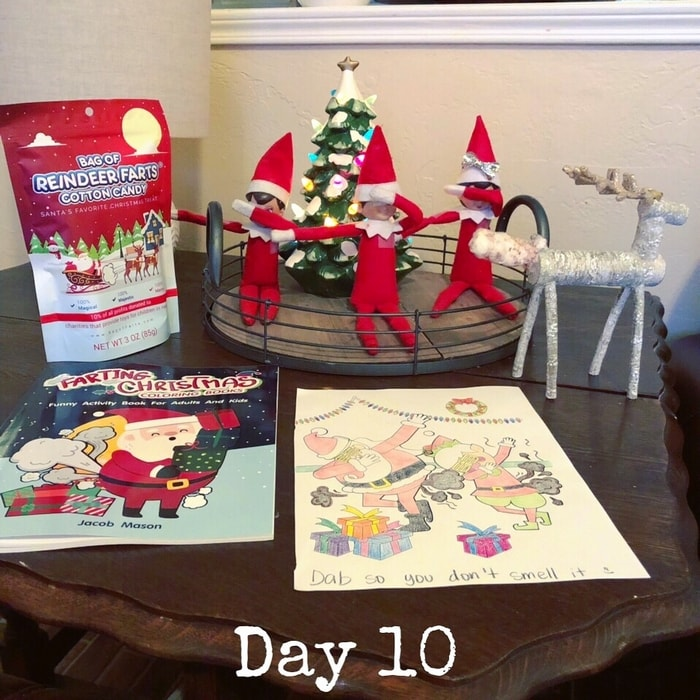 Day 10 of Elf on the Shelf Ideas - When an Elf farts!