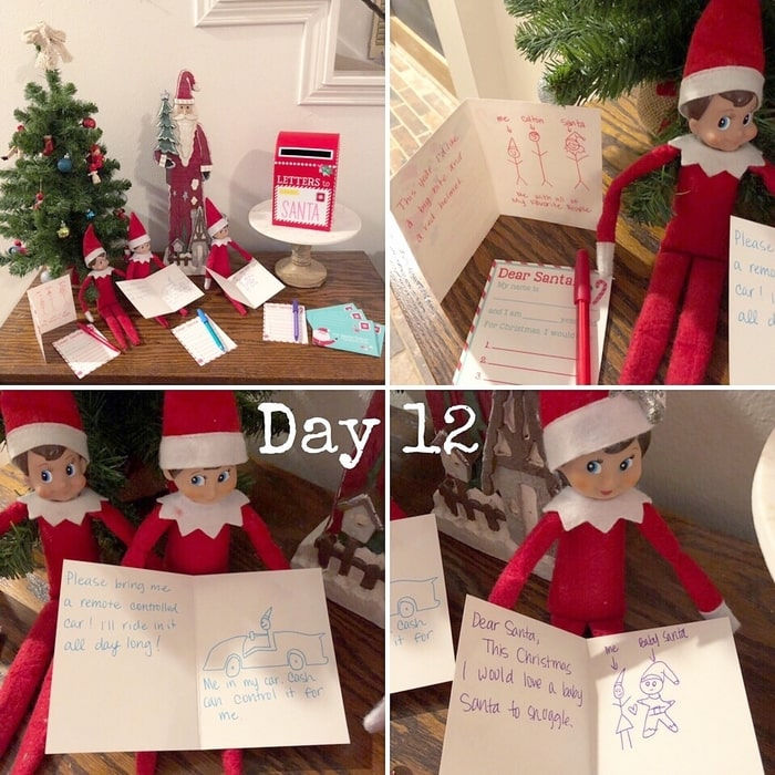 Easy Elf on the Shelf Ideas: Writing Letters to Santa