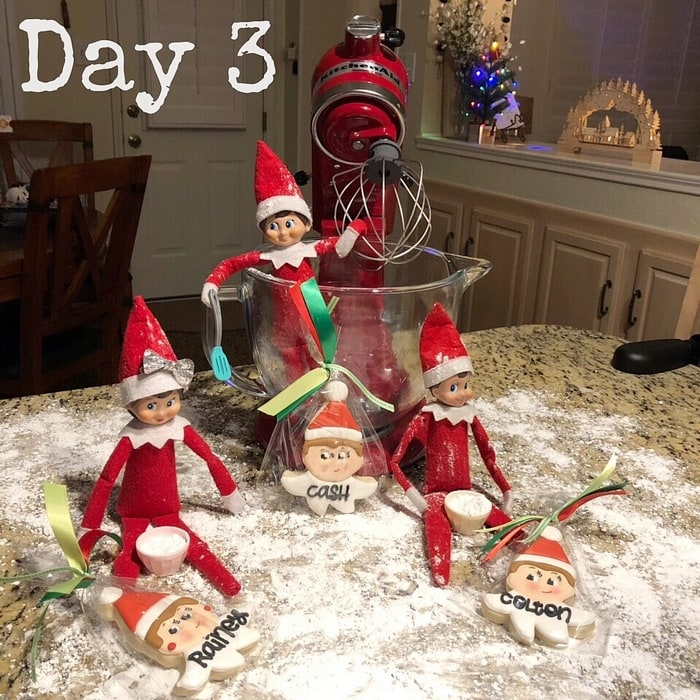 Elf on the Shelf Ideas Day 3 - Cookie Making