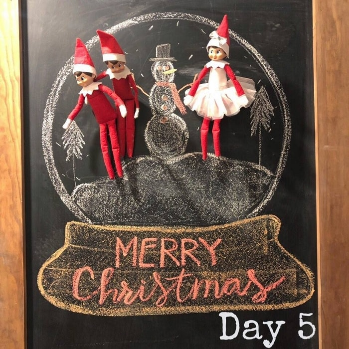 Elf Ideas Day 5 - Chalkboard Snowglobe
