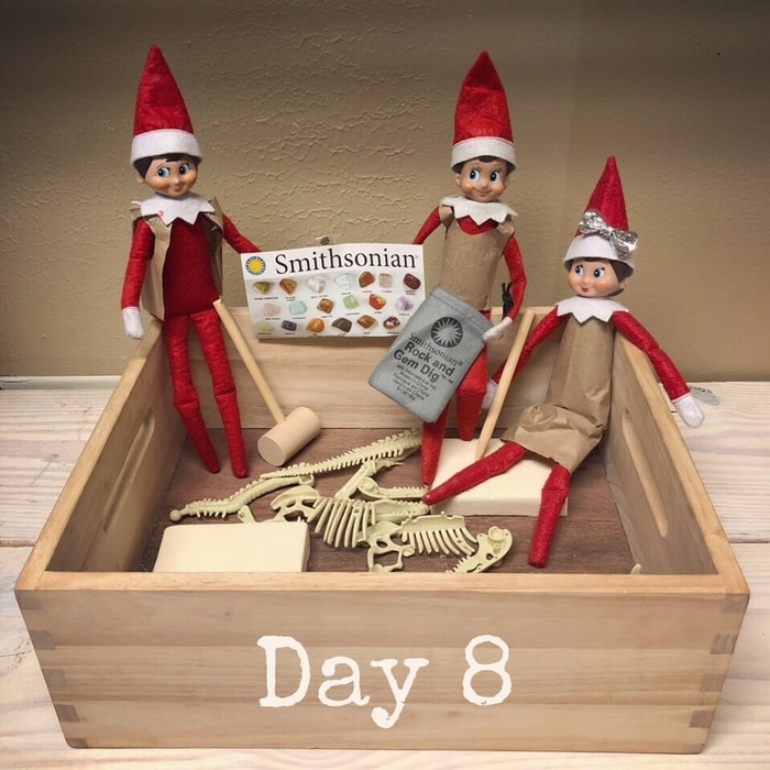 Elf on the Shelf Ideas for Boys: Excavation Day