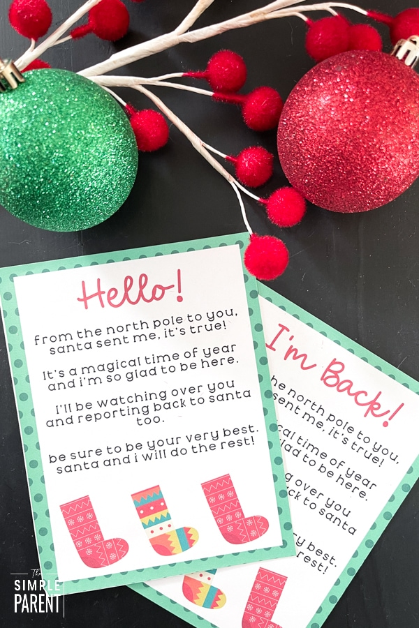 Elf on the Shelf Welcome Letters to Print