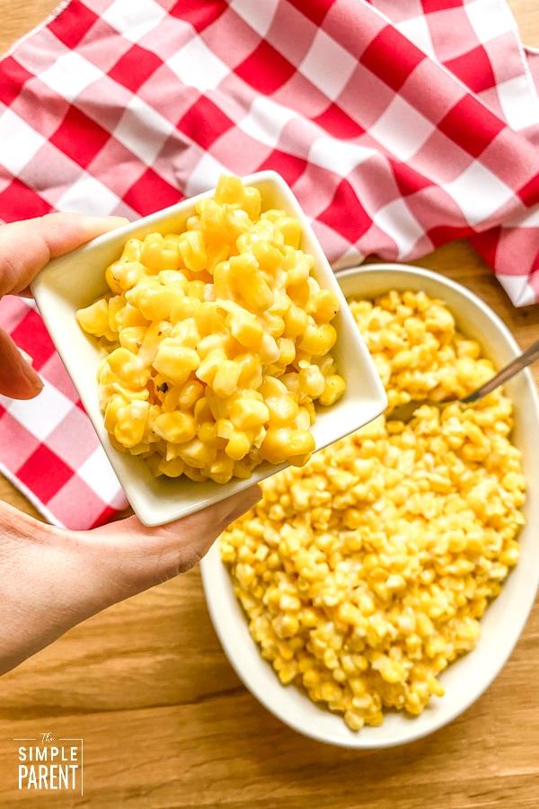Garlic Parmesan Fried Corn Side Dish