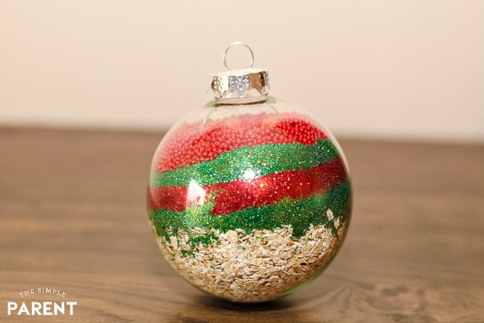 Ornament filled with magic reindeer food recipe