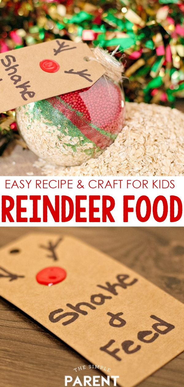Magic Reindeer Food Recipe & Printable - Start an easy Christmas tradition for kids! Learn how to make reindeer dust with this DIY craft project! Check out the FREE poem and make some homemade gifts this year!